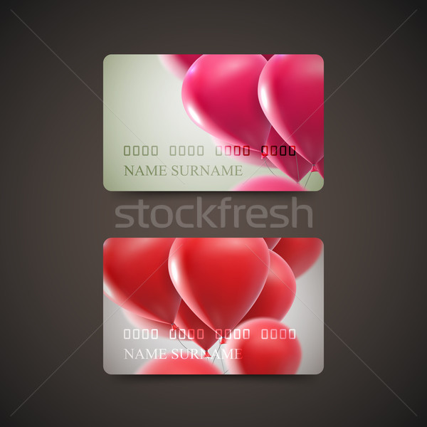 Gift Cards With Flying Balloons. Stock photo © maximmmmum