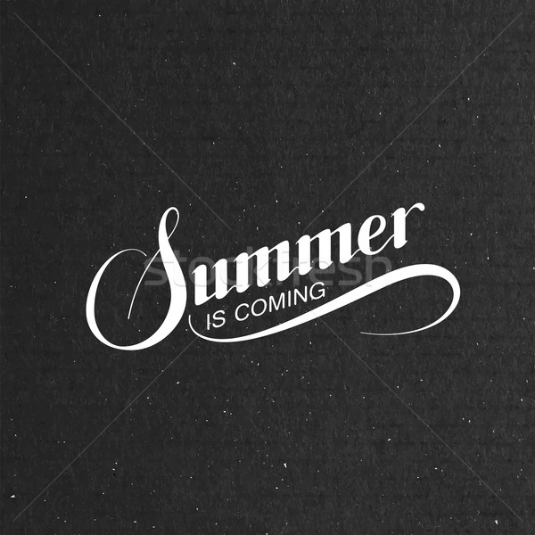 handwritten Summer Is Coming retro label Stock photo © maximmmmum