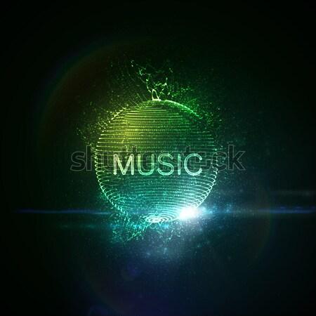 Müzik neon 3D Stok fotoğraf © maximmmmum