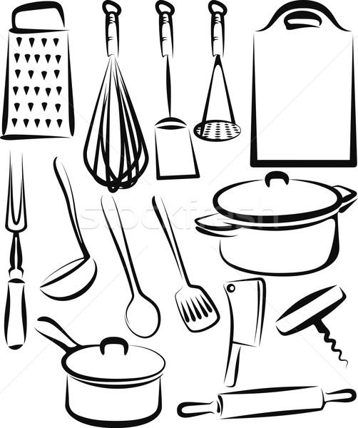 kitchen utensil Stock photo © maximmmmum