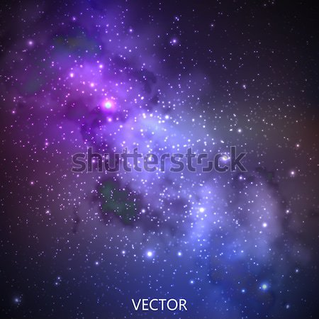 abstract vector background with night sky and stars. illustration of outer space, Milky Way Stock photo © maximmmmum