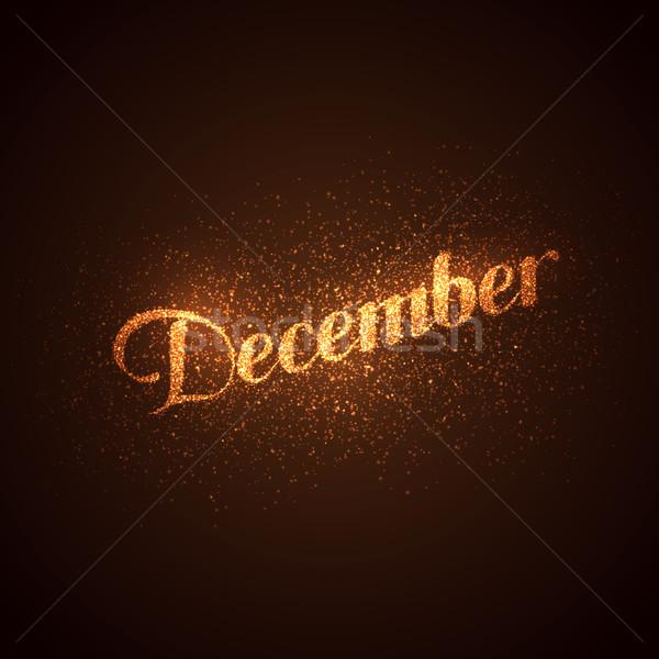 Aralık etiket altın vektör parlak Stok fotoğraf © maximmmmum