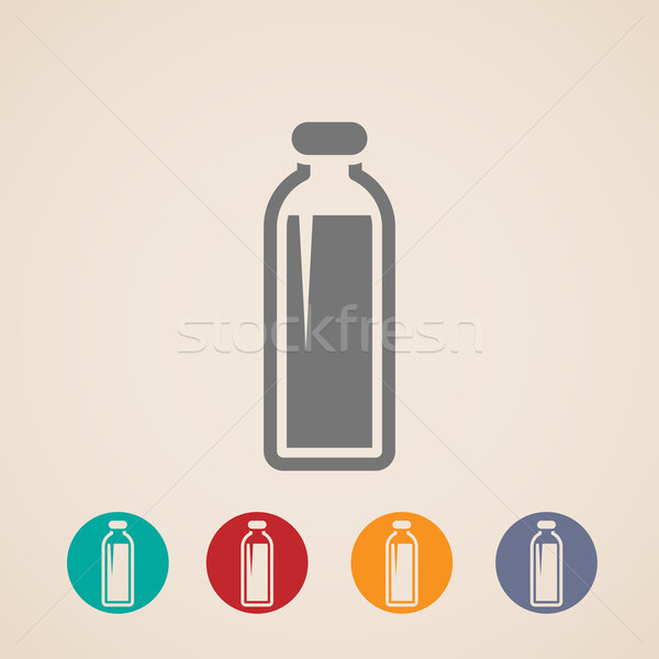 vector bottle of milk or another beverage icons  Stock photo © maximmmmum