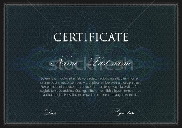 Vector sjabloon ontwerp certificaat borden patroon Stockfoto © maximmmmum