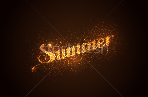 Summer label with light sparkles Stock photo © maximmmmum