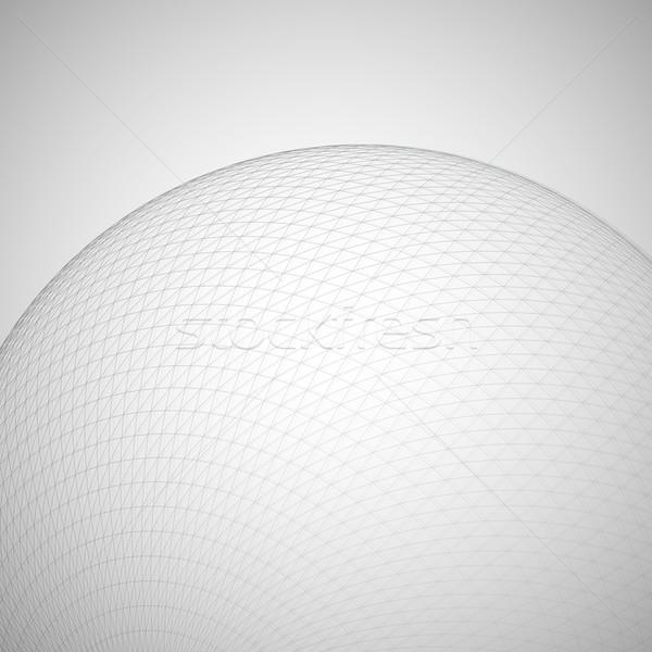 ストックフォト: 3D · 球 · グローバル · 行 · 未来的な