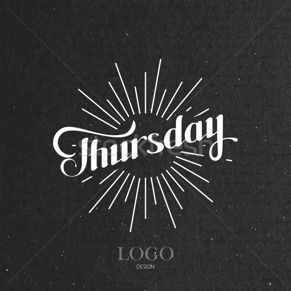 word Thursday and light rays Stock photo © maximmmmum