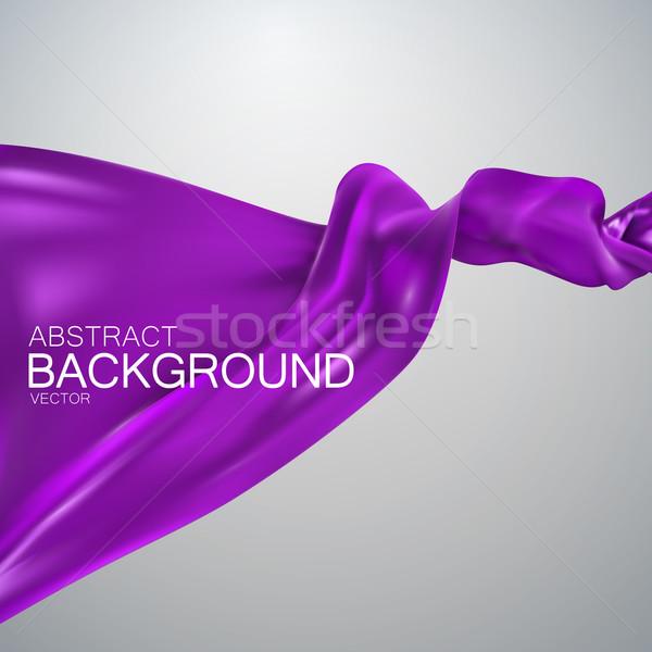 Púrpura seda tejido raso vector textiles Foto stock © maximmmmum