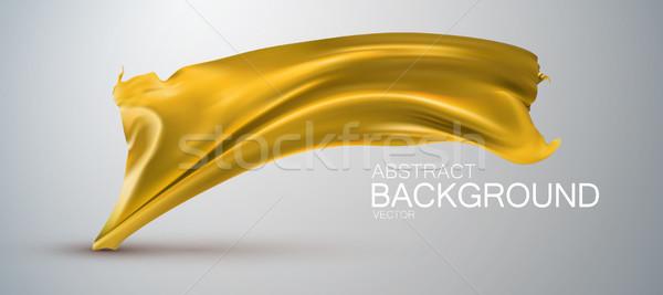 Amarillo seda tejido dorado raso vector Foto stock © maximmmmum