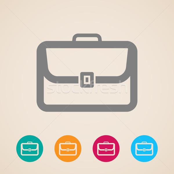 briefcase icon  Stock photo © maximmmmum