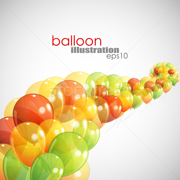 abstract background with multicolored balloons Stock photo © maximmmmum