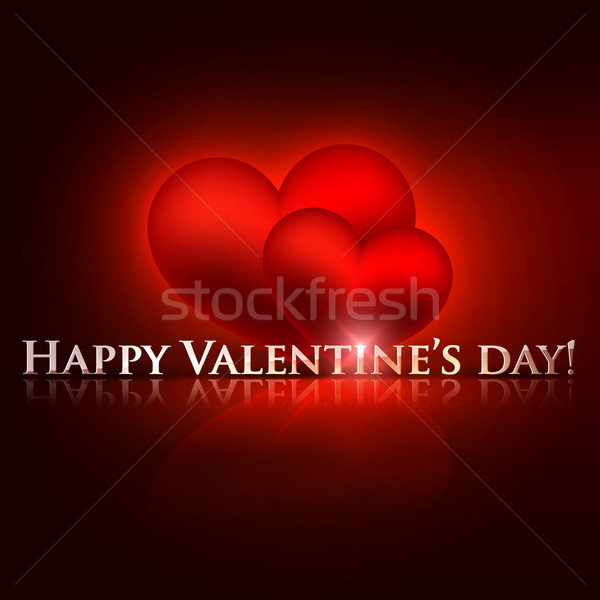 happy valentine's day. holiday background with red hearts  Stock photo © maximmmmum