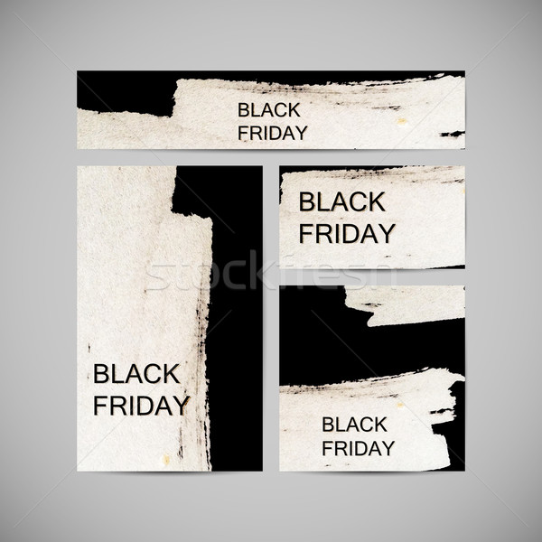 Black Friday Sale label on the watercolor stain Stock photo © maximmmmum