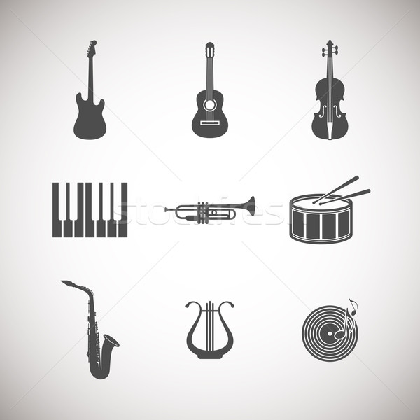 set of musical instrument icons Stock photo © maximmmmum