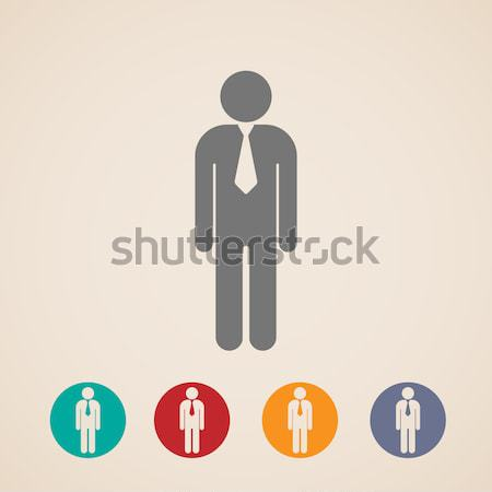 vector icons with a male sign  Stock photo © maximmmmum