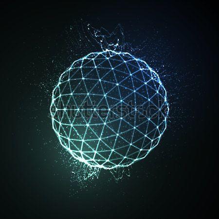 ストックフォト: 3D · 球 · 粒子