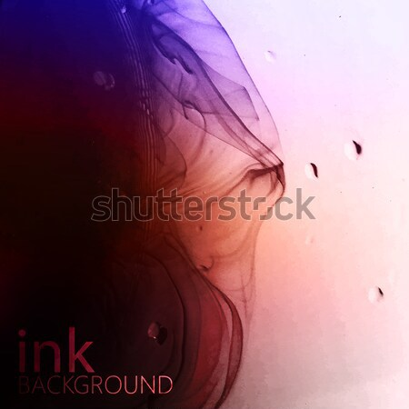 abstract vector background of red fluid ink swirling in water. m Stock photo © maximmmmum