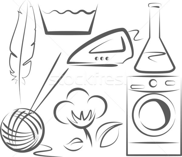 Lavage simple illustration symboles design Photo stock © maximmmmum