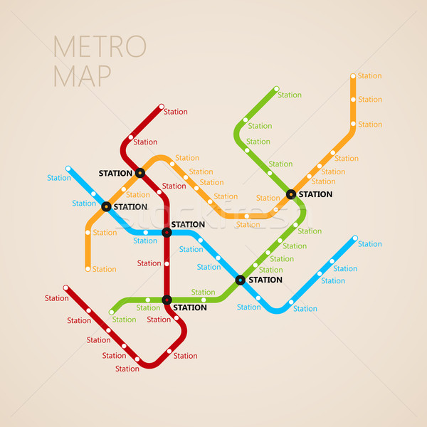 metro (subway) map design template. transportation concept  Stock photo © maximmmmum