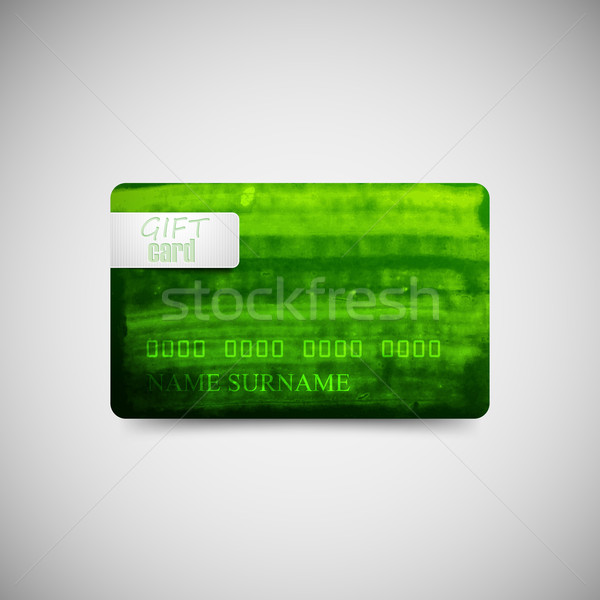 Verde acuarela tinta textura tarjeta de regalo plantilla Foto stock © maximmmmum