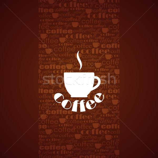 Сток-фото: вектора · чашку · кофе · бизнеса · продовольствие · кофе · фон