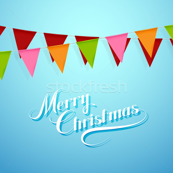 Merry Christmas. Holiday Vector Illustration. Stock photo © maximmmmum