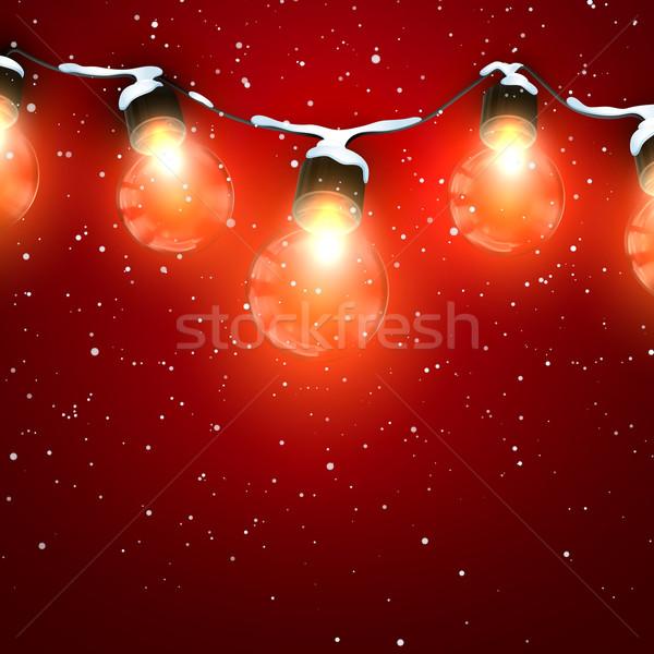 Luminous Electric Garland Stock photo © maximmmmum