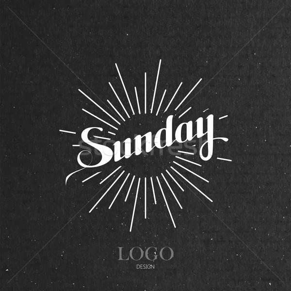 word Sunday and light rays Stock photo © maximmmmum