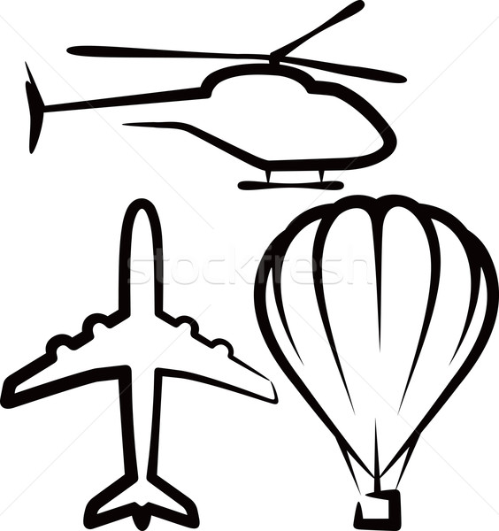 simple illustration with air transport Stock photo © maximmmmum