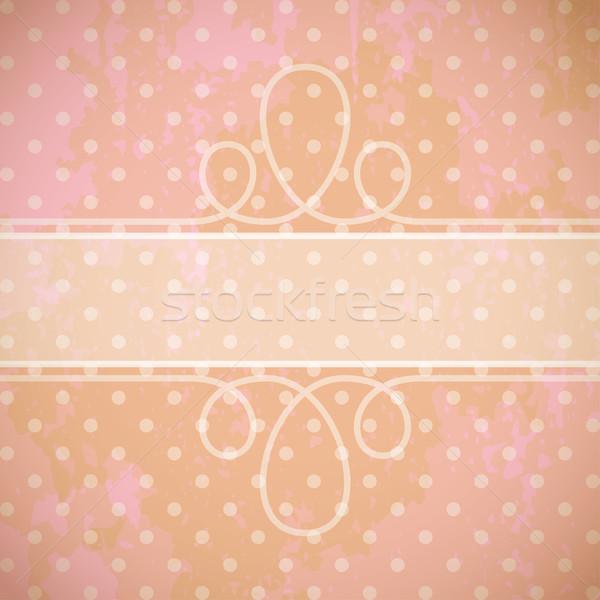ヴィンテージ 美 レトロな カード アンティーク スタイル ストックフォト © maximmmmum
