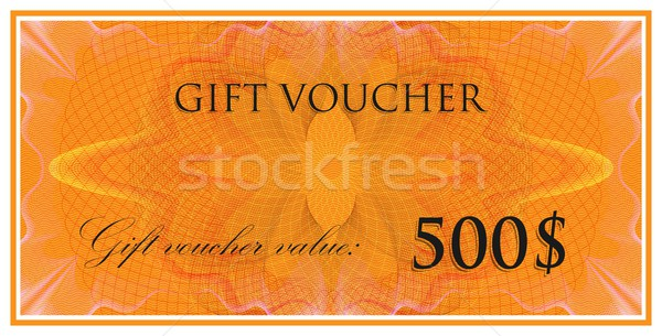 vector template design of gift voucher or certificate with guilloche pattern (watermarks). also can  Stock photo © maximmmmum