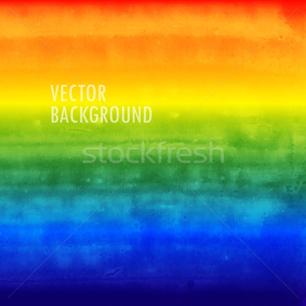 rainbow watercolor vector background. brushed ink texture.  Stock photo © maximmmmum