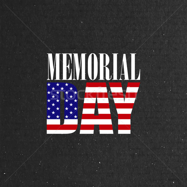 Memorial Day label on the blackboard background Stock photo © maximmmmum