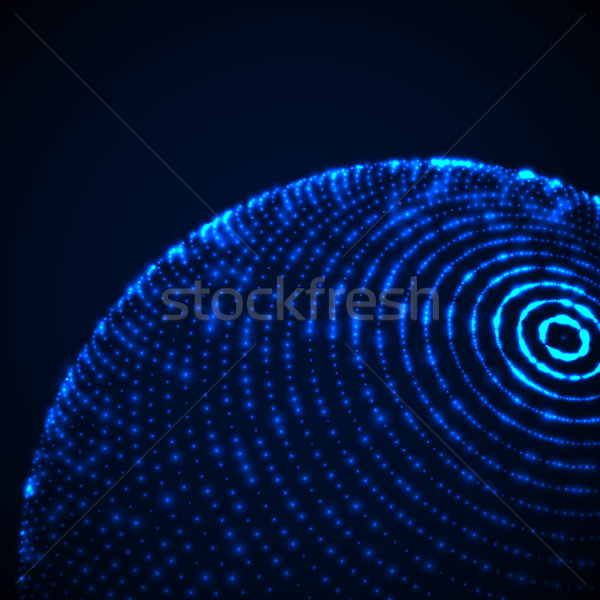 3D sferze cząstki Zdjęcia stock © maximmmmum