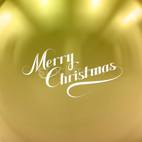 Merry Christmas. Vector Holiday Illustration  Stock photo © maximmmmum