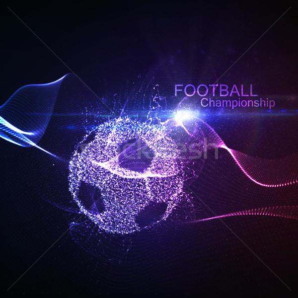 Foto stock: Fútbol · fútbol · resumen · pelota · iluminado · vector
