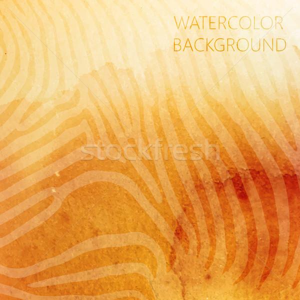 Vecteur résumé orange couleur pour aquarelle animaux zèbre Photo stock © maximmmmum