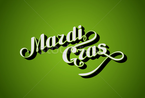 vector handwritten lettering Mardi Gras or Shrove Tuesday label Stock photo © maximmmmum