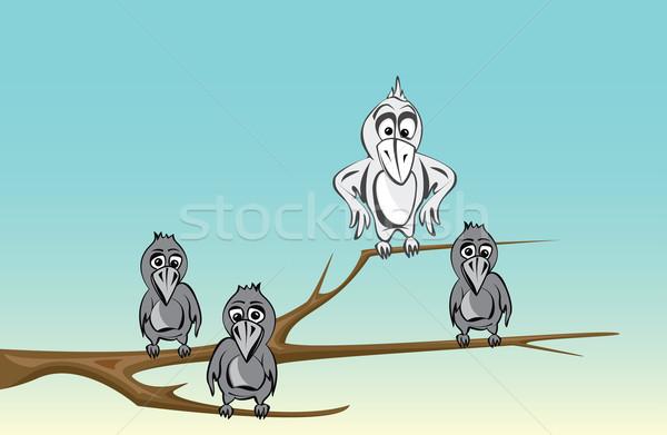 смешные Cartoon дизайна группа весело команда Сток-фото © maximmmmum