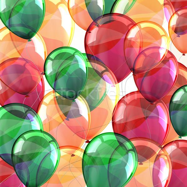 Vakantie vliegen veelkleurig ballonnen partij gelukkig Stockfoto © maximmmmum