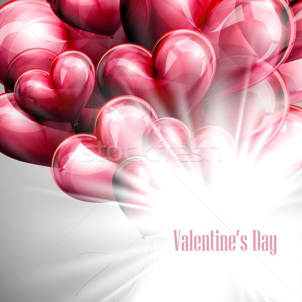 Vector vakantie illustratie valentijnsdag label feestelijk Stockfoto © maximmmmum