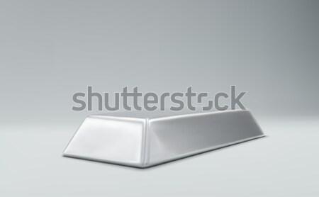 серебро Бар денежный деньги фон успех Сток-фото © maximmmmum