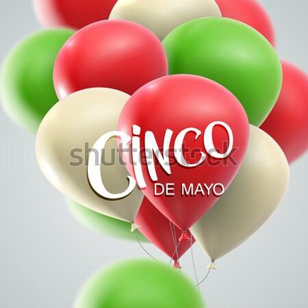 Mayonesa vacaciones vector banner ilustración globos Foto stock © maximmmmum