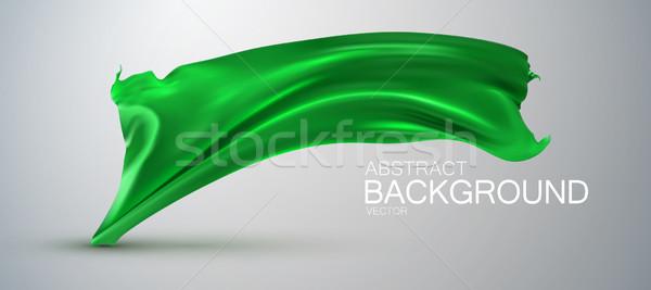 Verde seda tecido cetim vetor têxtil Foto stock © maximmmmum