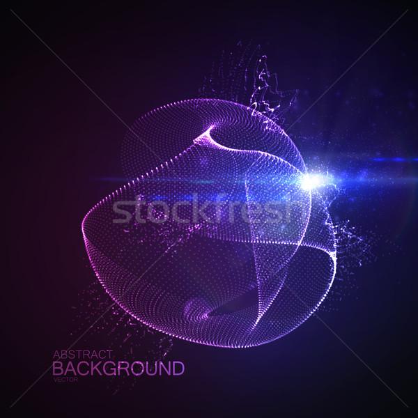 3D illuminated neon digital splash Stock photo © maximmmmum
