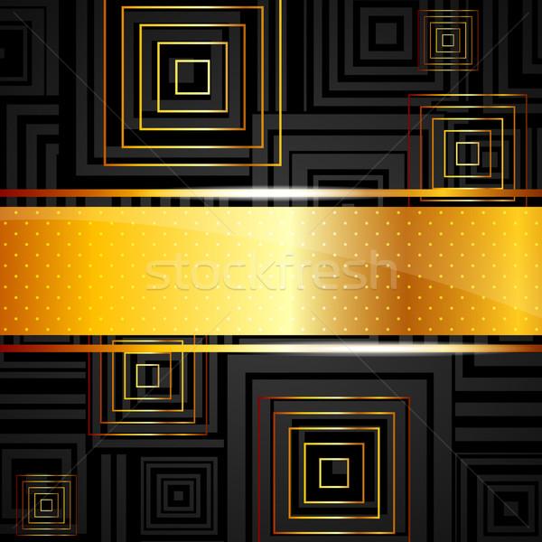 Abstract piazze design sfondo nero presentazione Foto d'archivio © maximmmmum