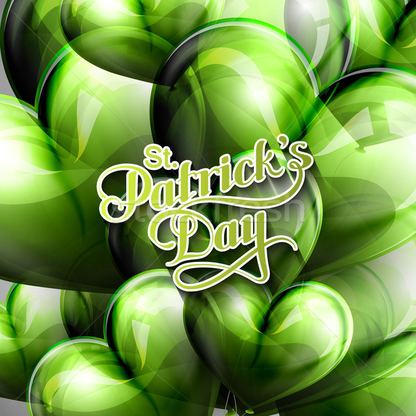 vector typographical illustration of handwritten Saint Patricks Day label on the holiday background  Stock photo © maximmmmum
