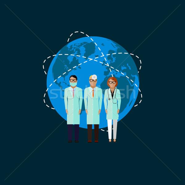 Illustration médecins médicaux santé vecteur monde Photo stock © maximmmmum