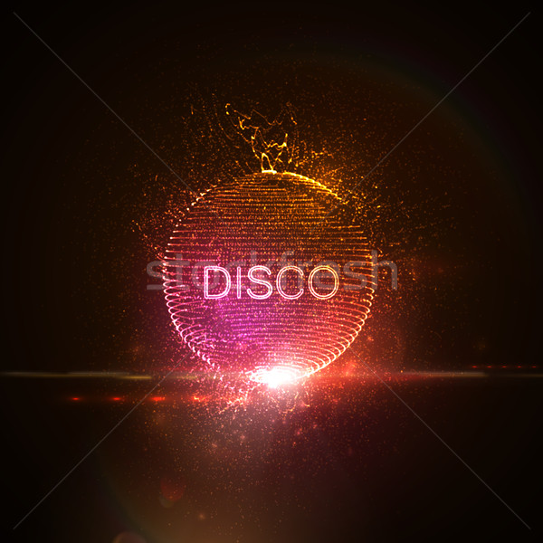 Disco neon sign. Stock photo © maximmmmum