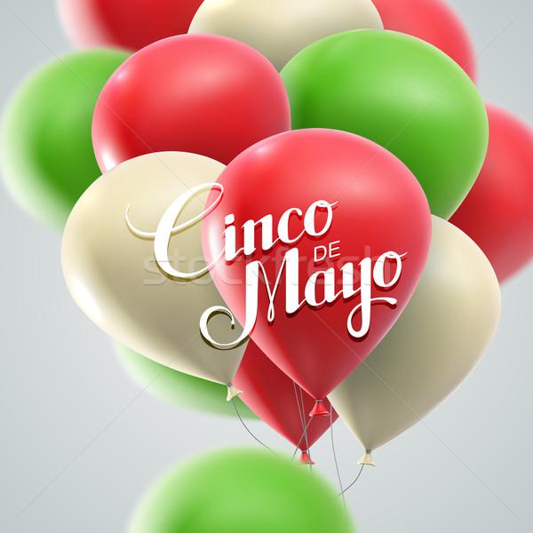 Tatil vektör afiş örnek balonlar Stok fotoğraf © maximmmmum